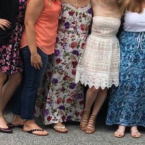 106ace786c Socialite Dresses - Socialite White Strapless Lace Bachelorette Dress